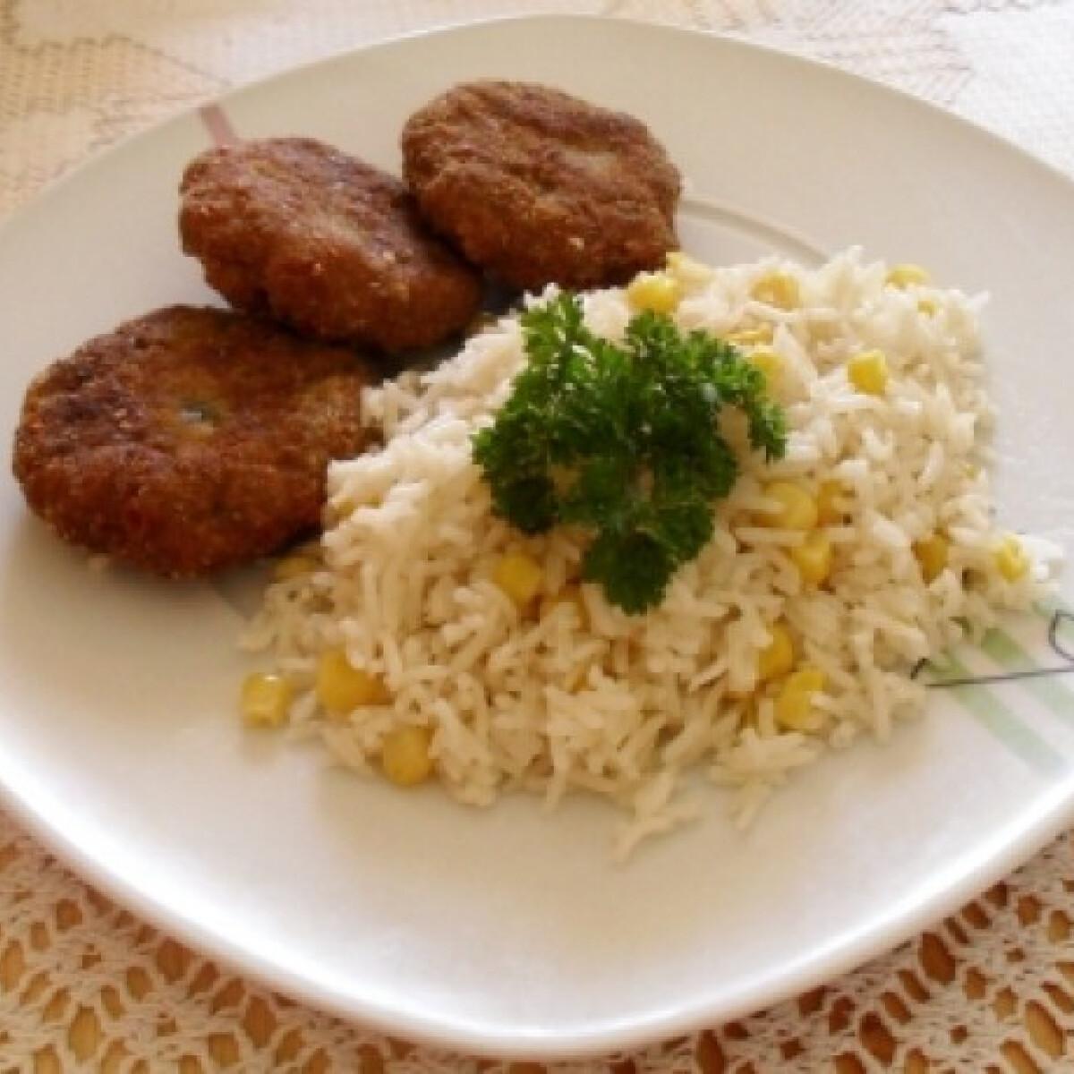 Pulykafasírt kukoricás rizzsel