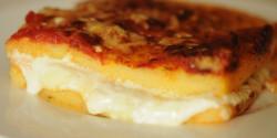 Háromsajtos sült polenta