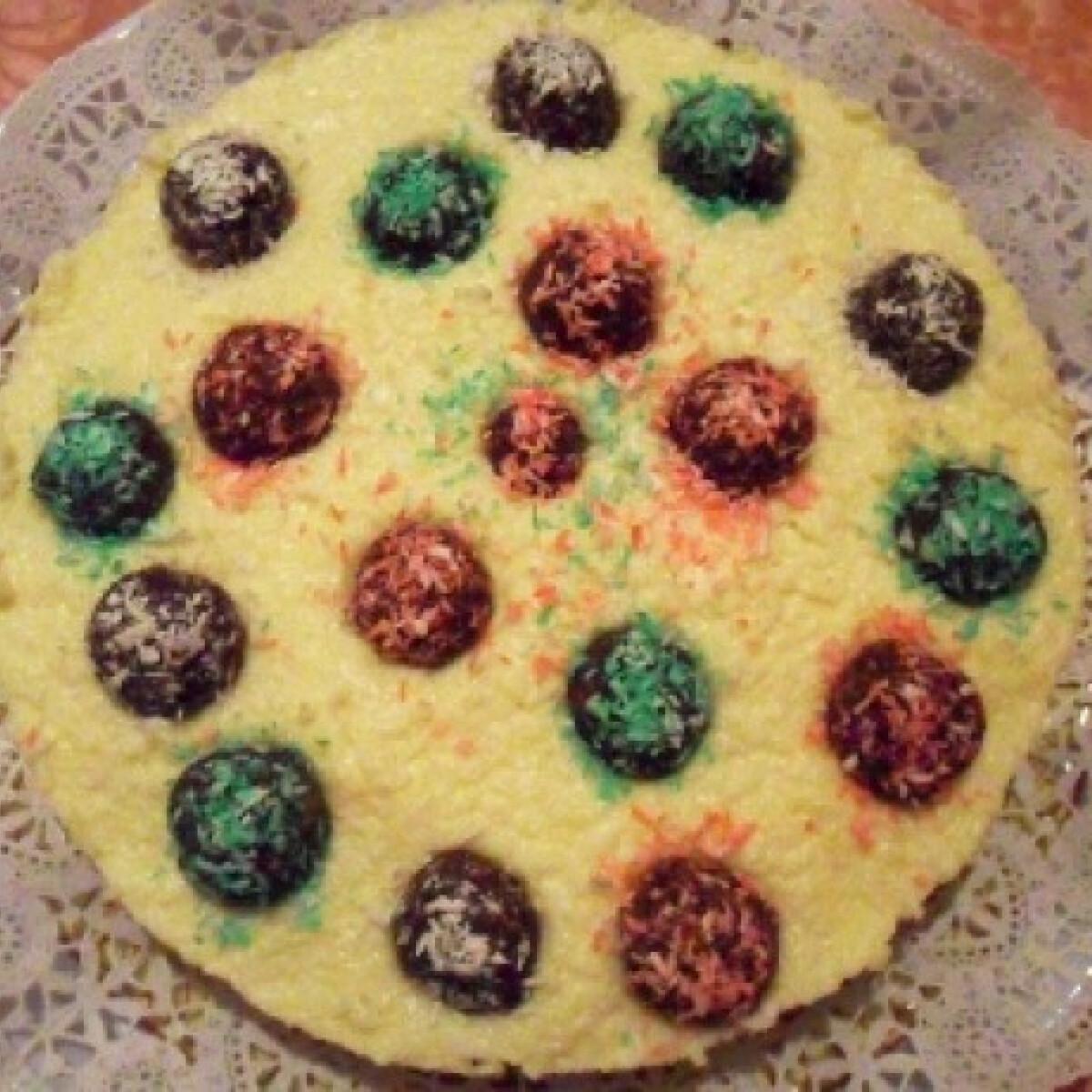 Ezen a képen: Kókuszgolyó torta