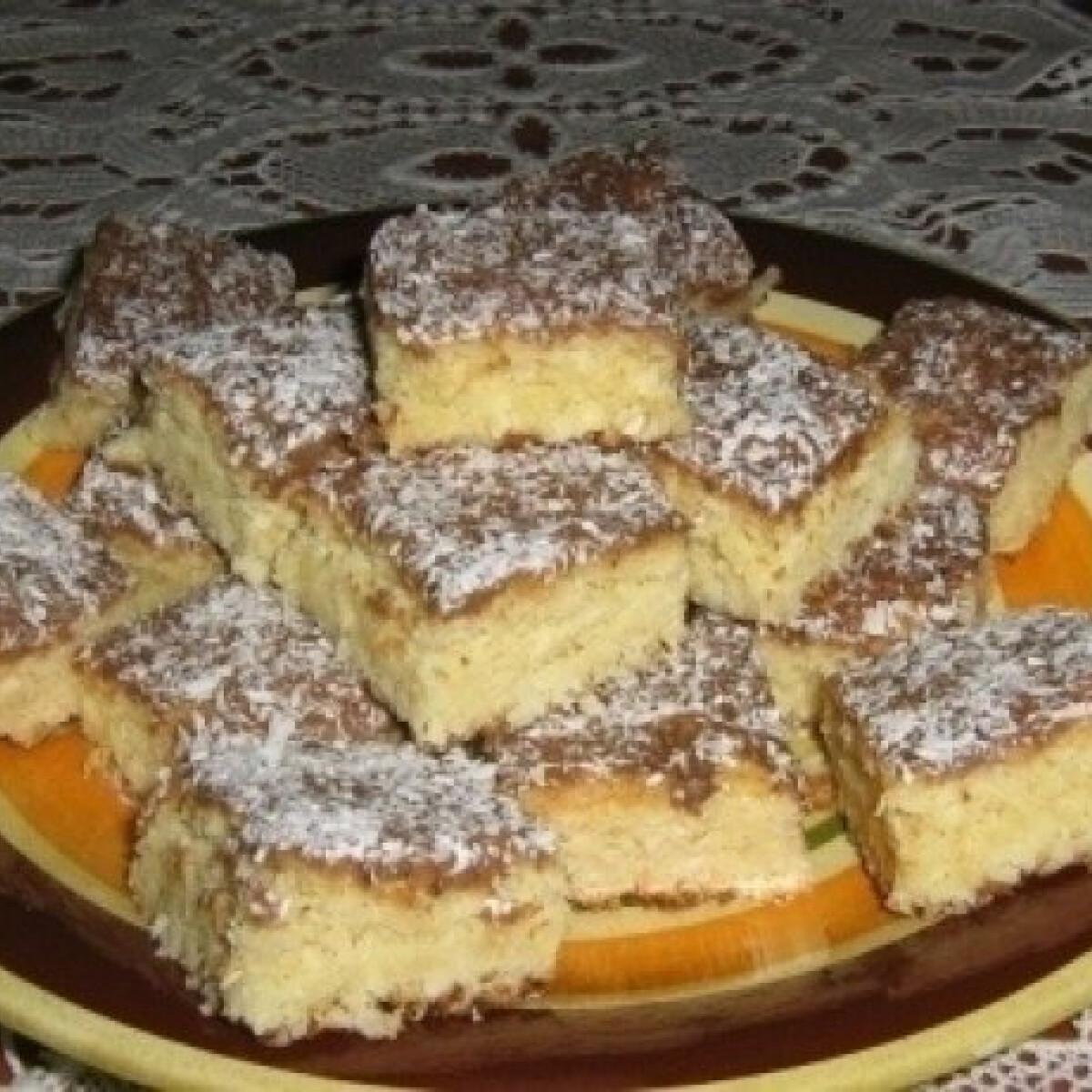 Kókuszos-fehércsokis brownie
