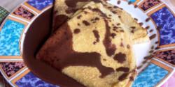 Madártejkrémes palacsinta csokiöntettel
