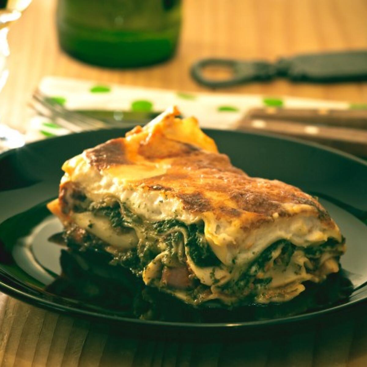 Ezen a képen: Spenótos lasagne Tomatotree konyhájából