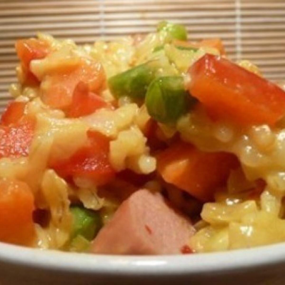Ezen a képen: Curry-s rizs 2. - zöldségekkel