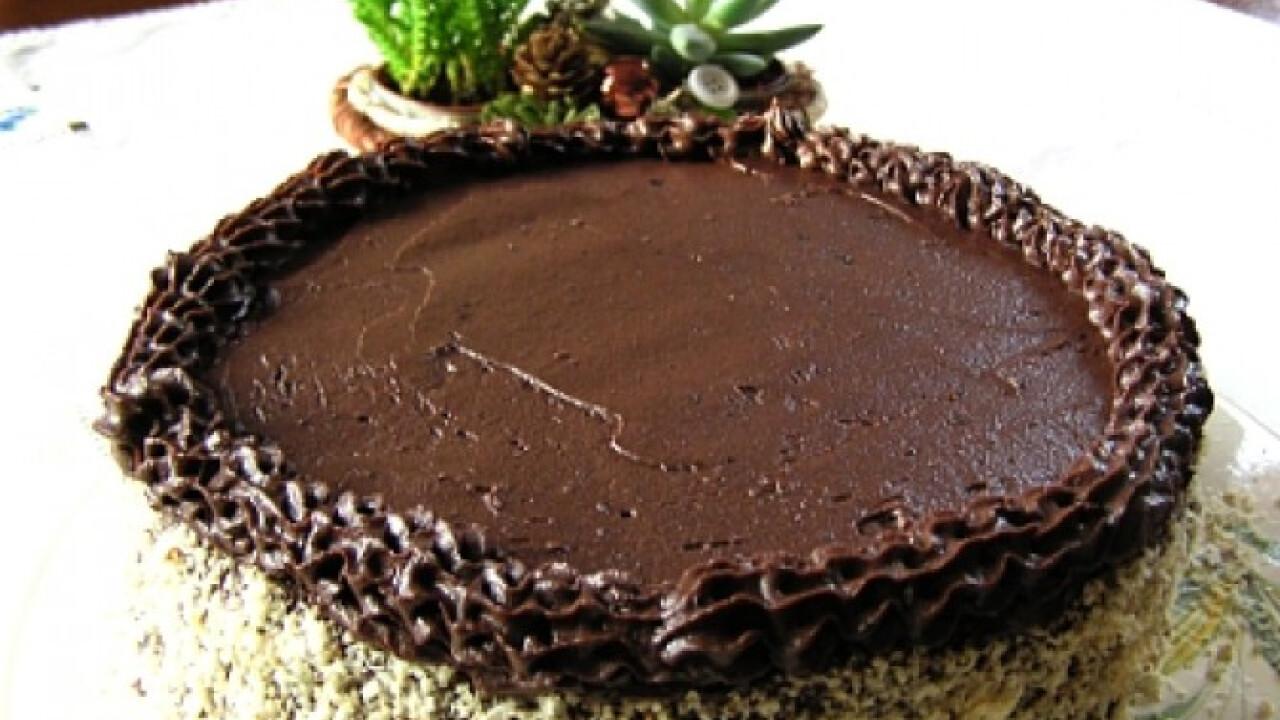 Csokoládékrémes diótorta liszt nélkül
