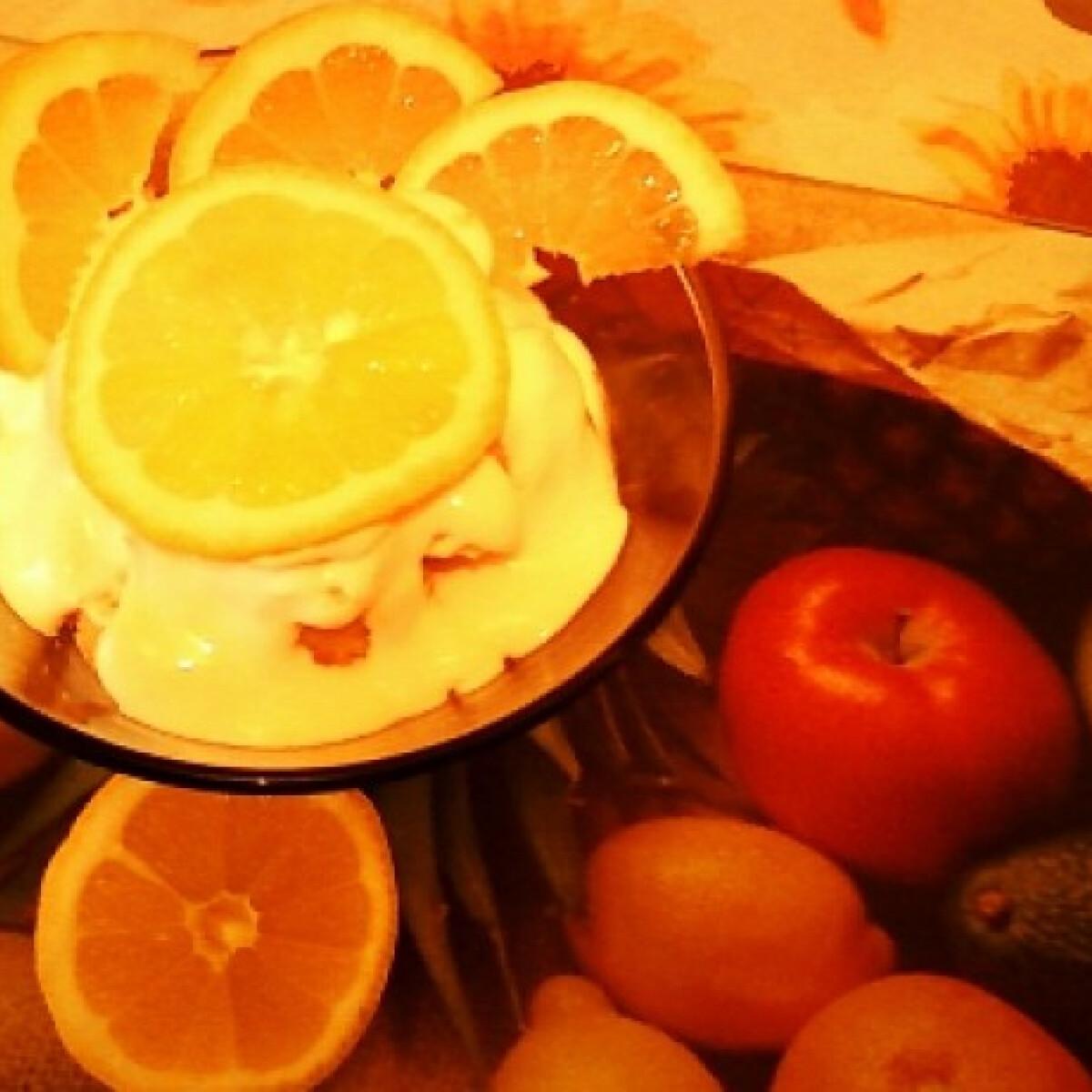 Tejszínes-citromos pohárdesszert