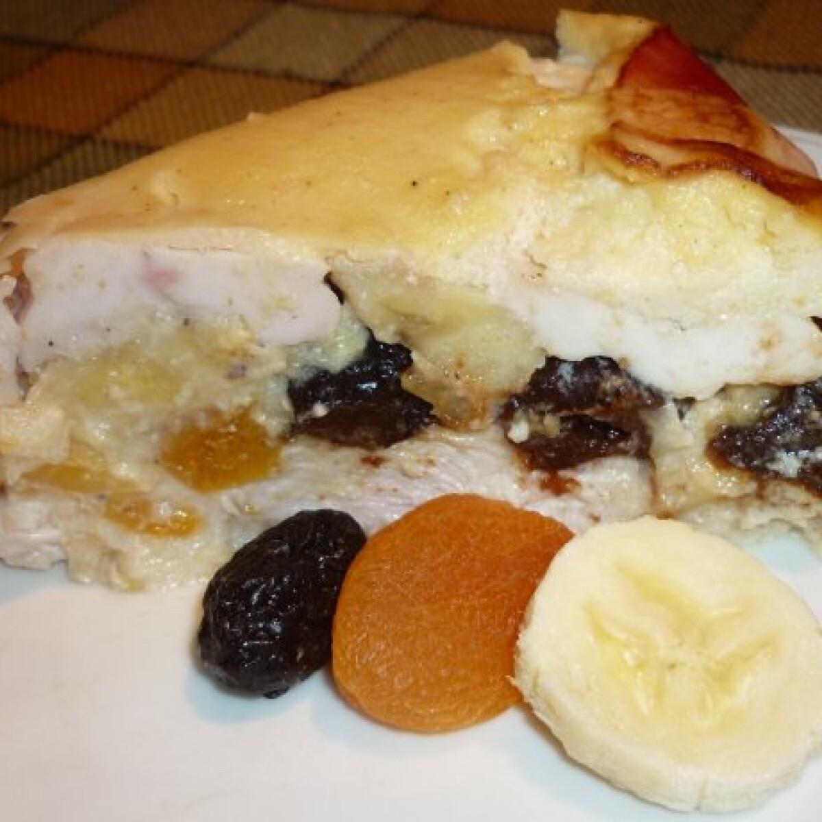 Gyümölcsös csirkemell-torta