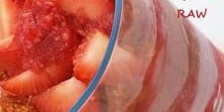 Réteges málnakrém eperrel tejmentesen