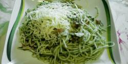 Spenótos-tejszínes-sonkás spagetti
