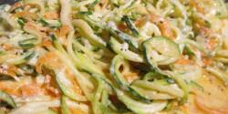 """Fokhagymás zöld """"spagetti"""""""