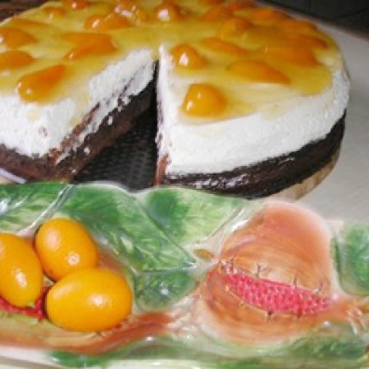 Kardamomos csokitorta kumquattal