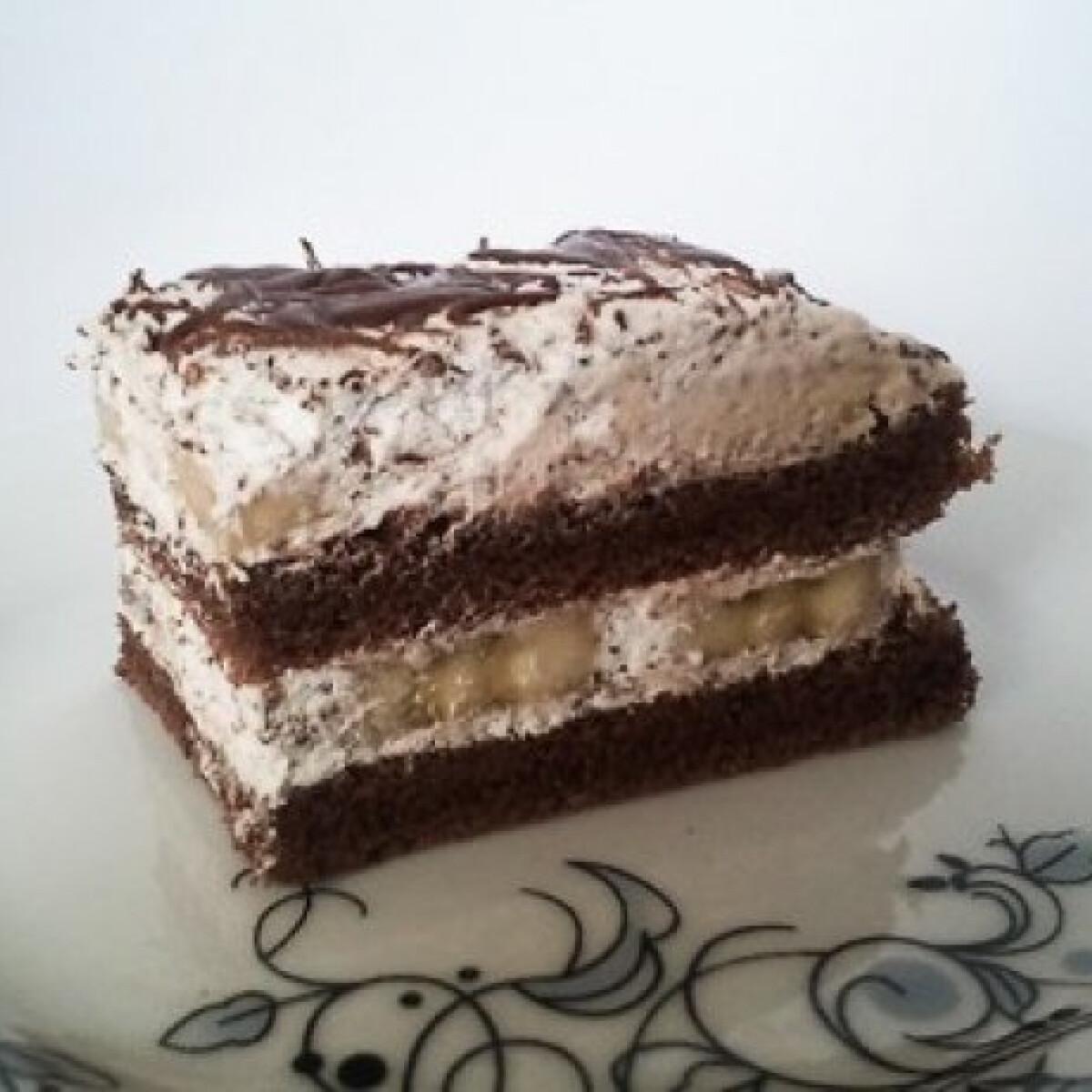 Ezen a képen: Banános-csokis sütemény