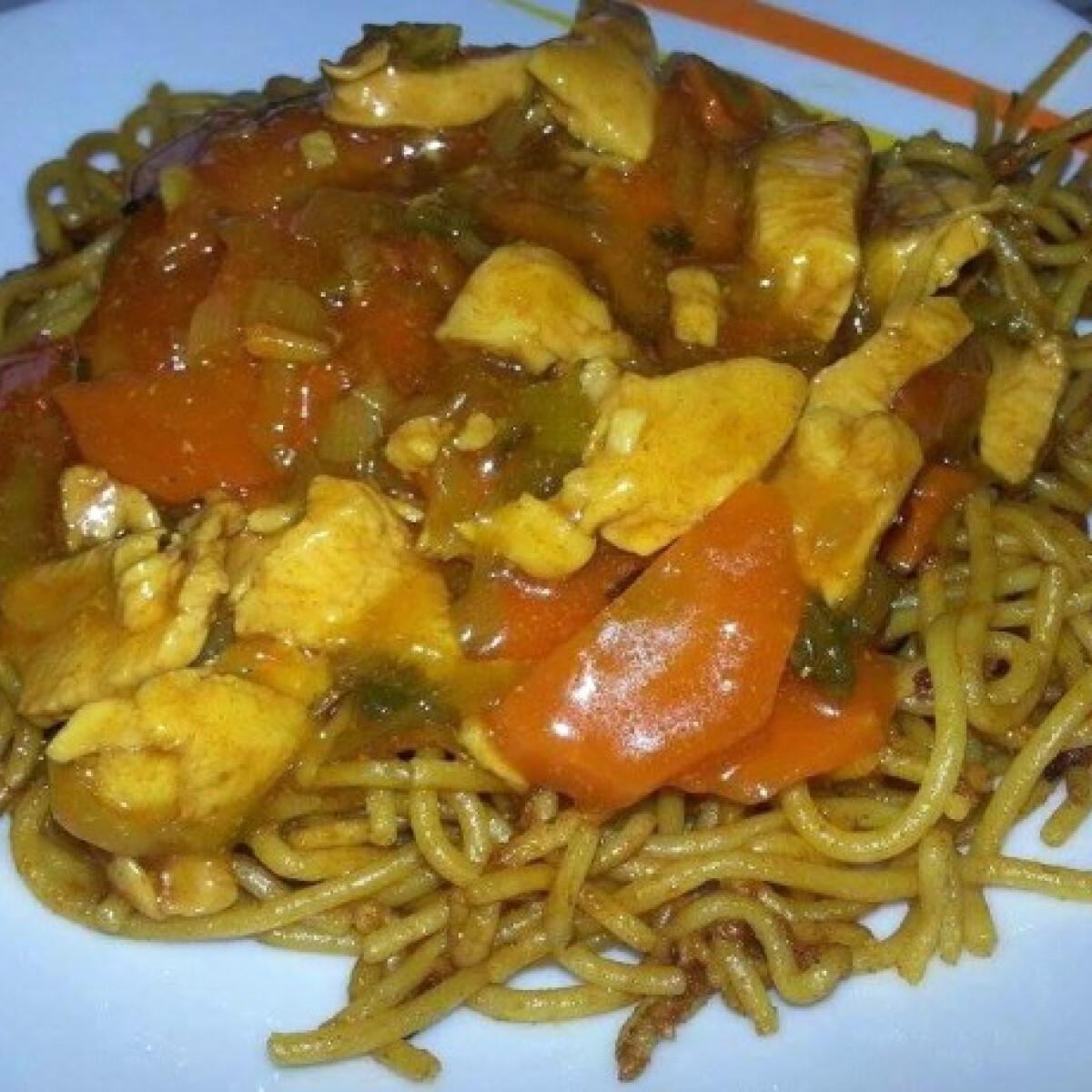Ezen a képen: Kínai zöldséges csirkemell Andzsika konyhájából