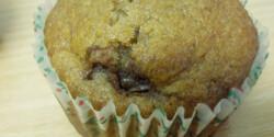 Nutellás krémmel töltött muffin
