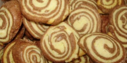 Linzertekercs - Kétszínű keksz 2.