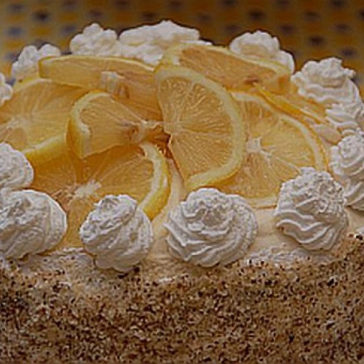 Citromos-mákos torta