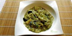 Padlizsán curry