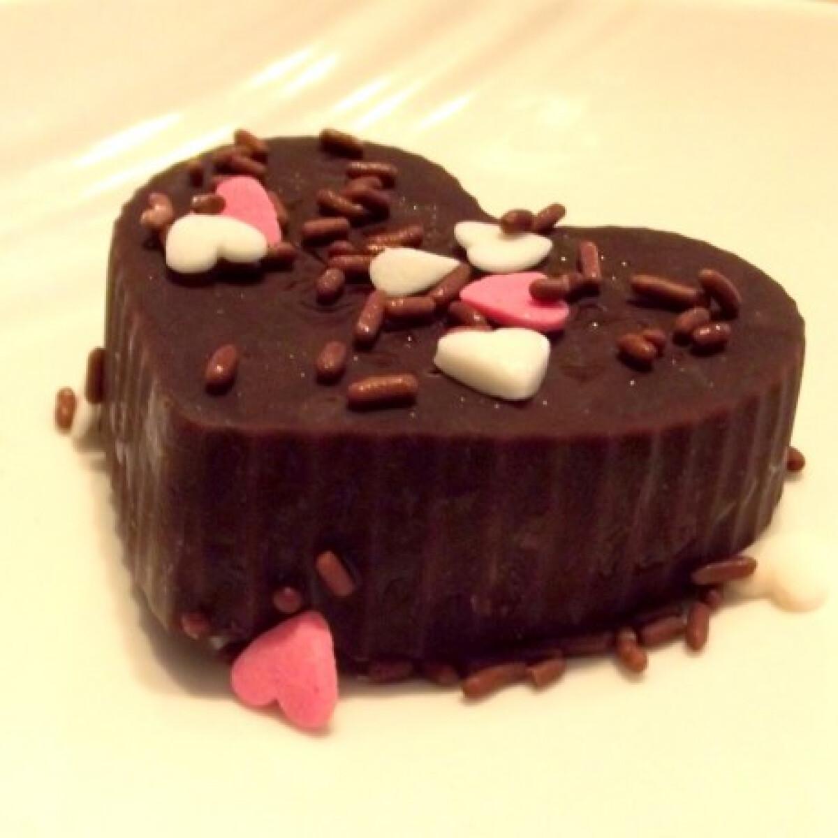 Levendulás csokoládészív