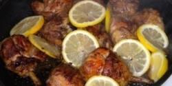 Ragadós citromos csirke