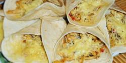 Csirkés-zöldséges tortilla