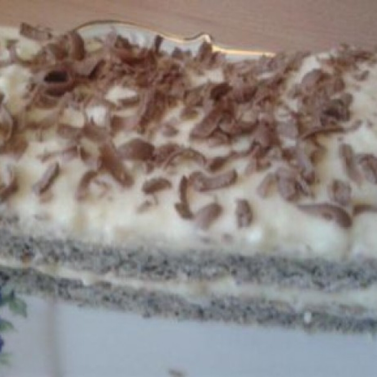 Cukormentes vaníliás-mákos süti