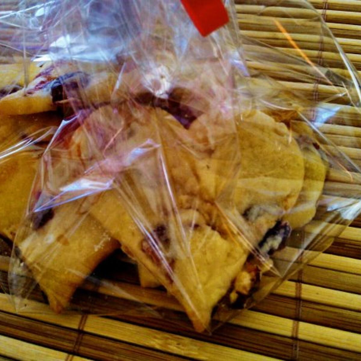 Áfonyás-sárgabarackos vajas keksz