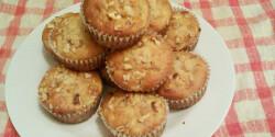 Nektarinos-diós muffin