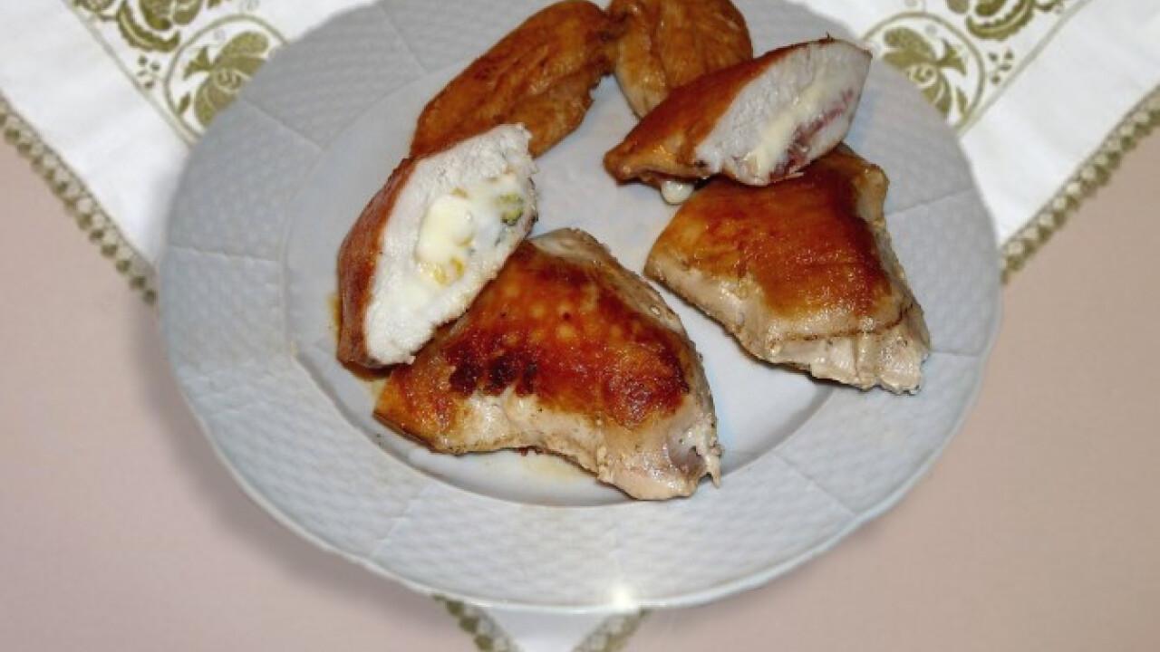 Szuvidált-töltött csirkemell