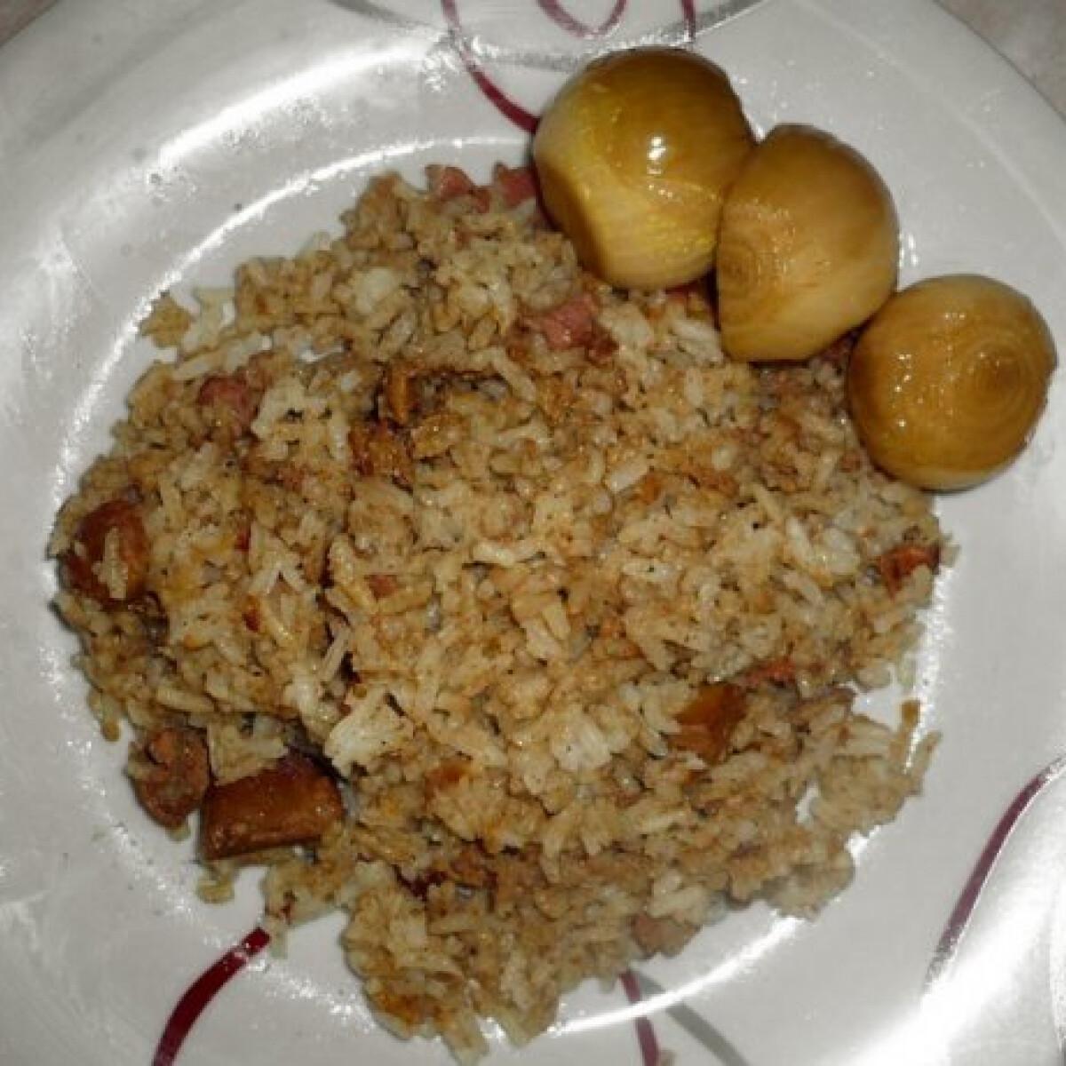Ezen a képen: Gyors rizses csirkemáj