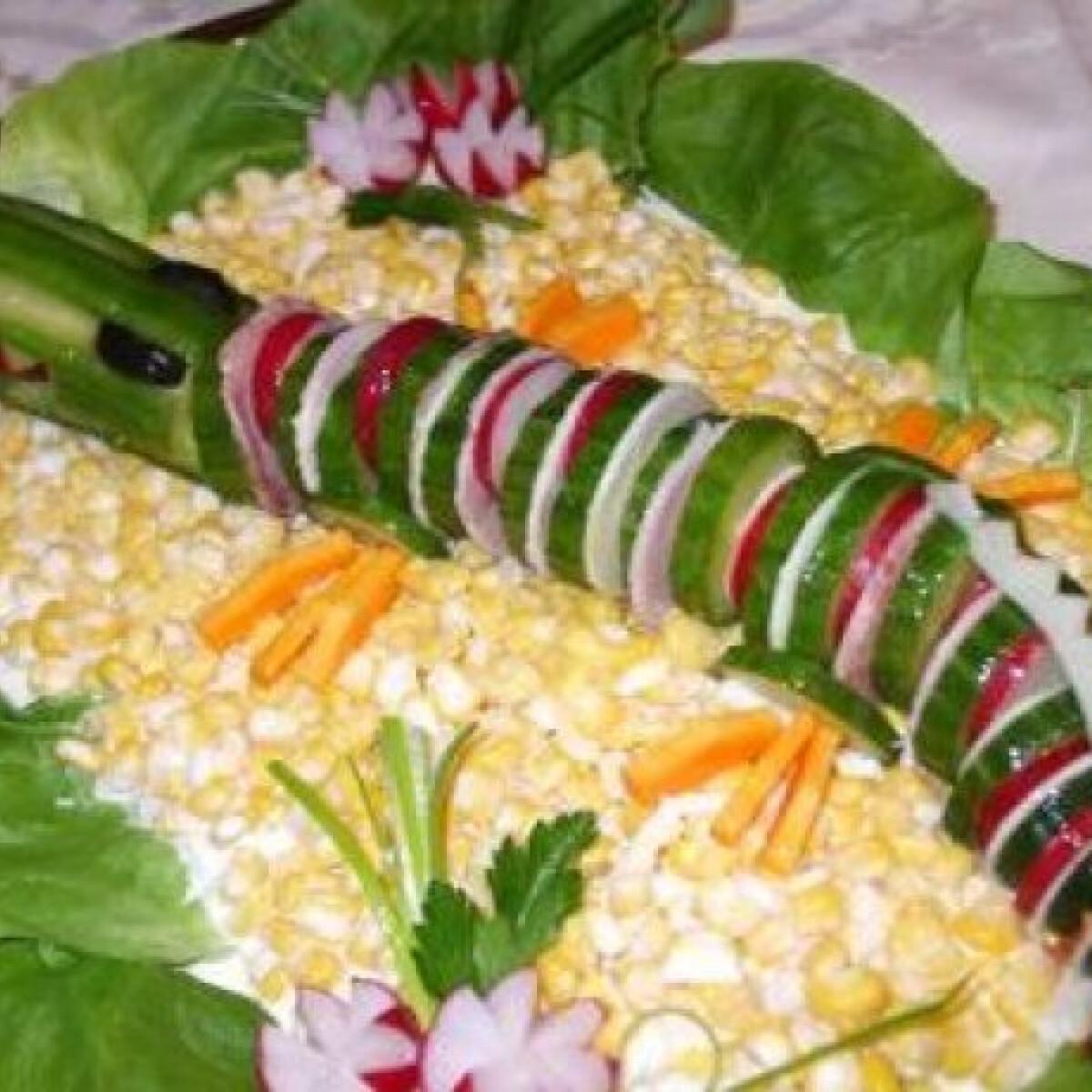 Ezen a képen: Majonézes kukorica krokodillal