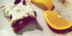 Túrókrémes kekszszelet