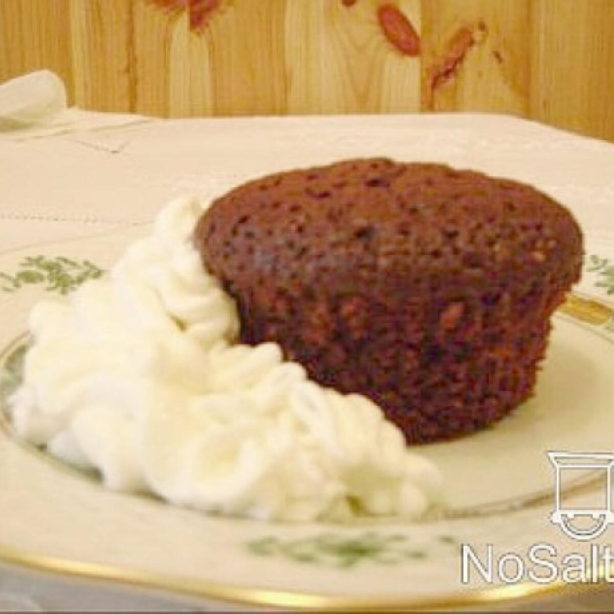 Könnyített Sacher muffin