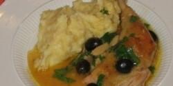 Citromos, olívás, fokhagymás csirke