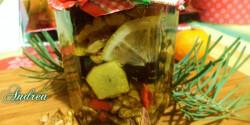 Gyömbéres-mézes dió aszalt gyümölcsökkel