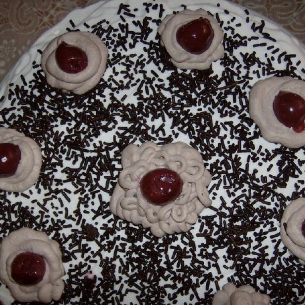 Ezen a képen: Meggyes-habos torta Lilliától