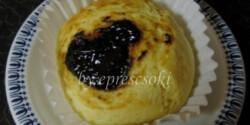 Szilvalekváros csufi muffin