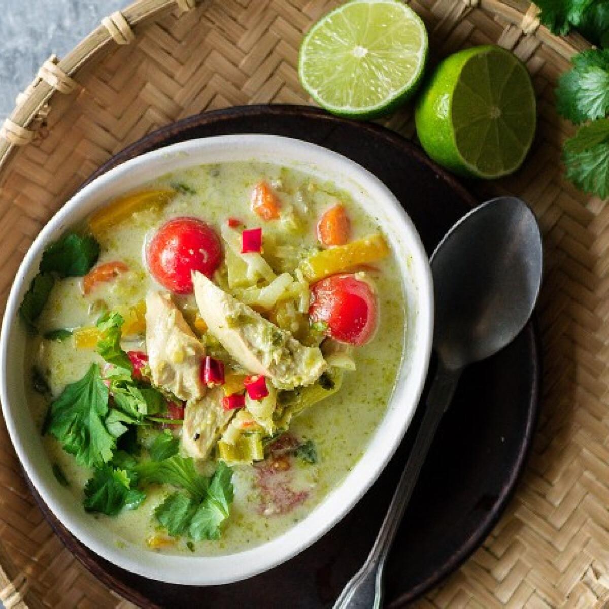 Ezen a képen: Thai zöldcurrys csirke