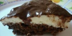 Diétás csokis túrókrémes süti