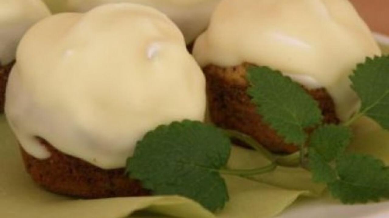 Négercsók muffin fehéren