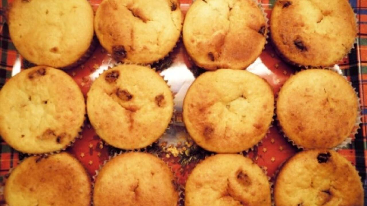 Mazsolás-túrós muffin