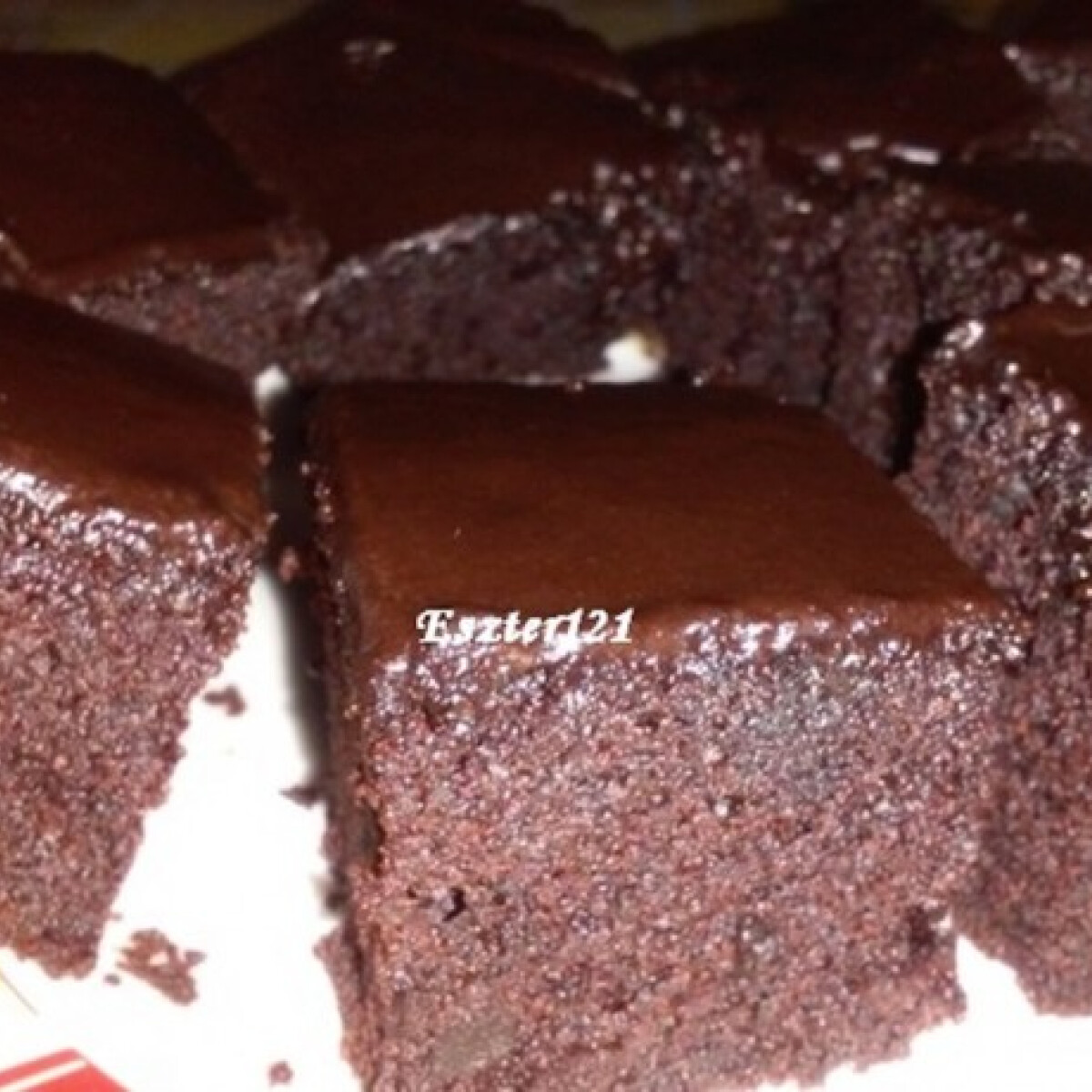 Ezen a képen: Brownie natúr joghurttal