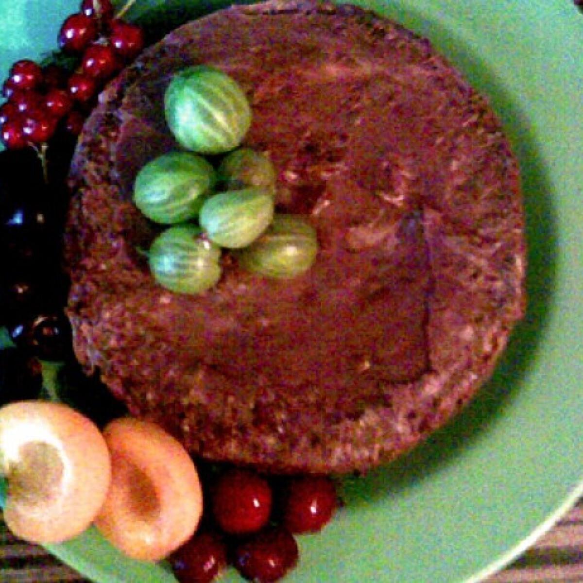 Meggyes-csokikrémes csokipiskóta