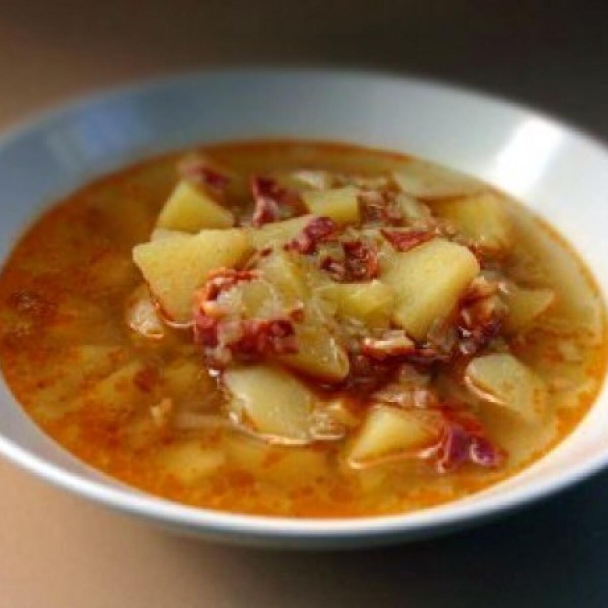 Chorizos-pórés krumplileves