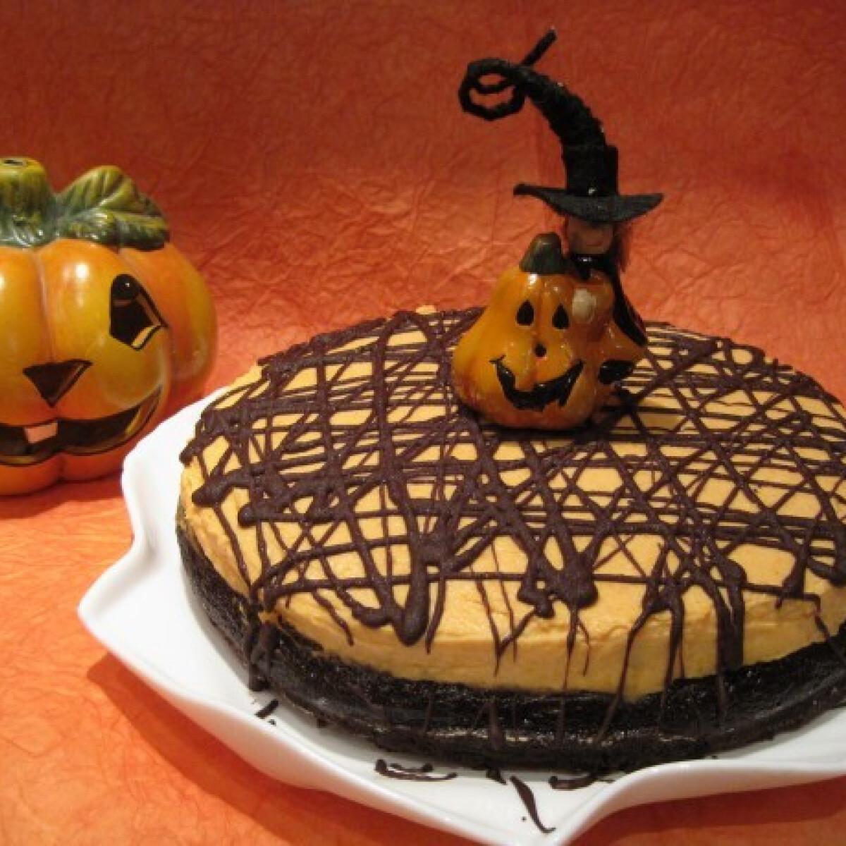 Ezen a képen: Sütőtökkrémes-majonézes csokitorta
