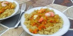 Édesburgonyás tigrisrák curry quinoával