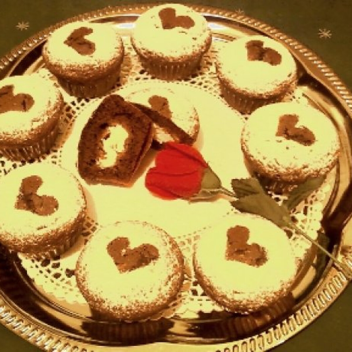 Ezen a képen: Kakaós-túrós muffin