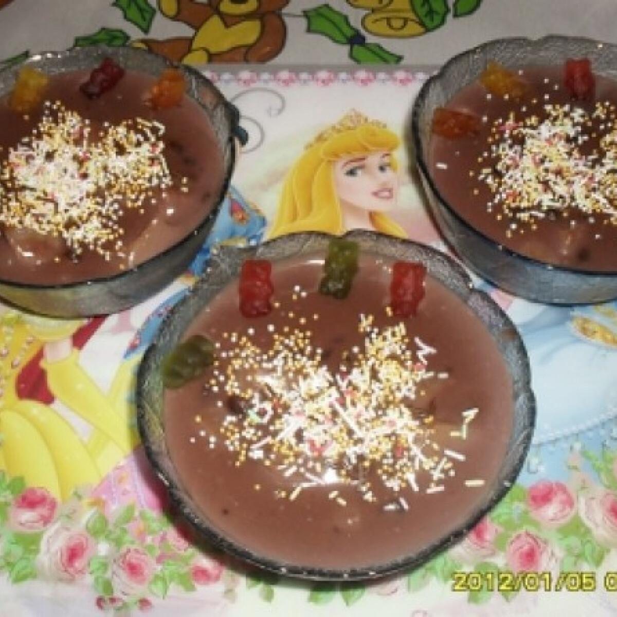 Mazsolás-körtés csokipudingkehely