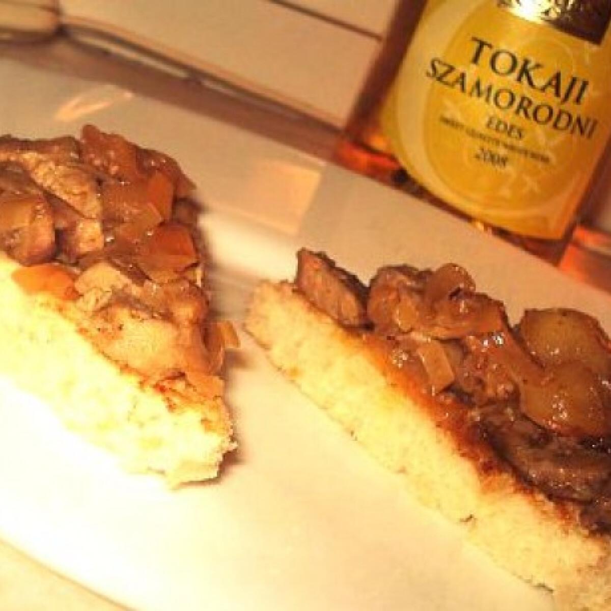 Ezen a képen: Libamáj tokaji mártással