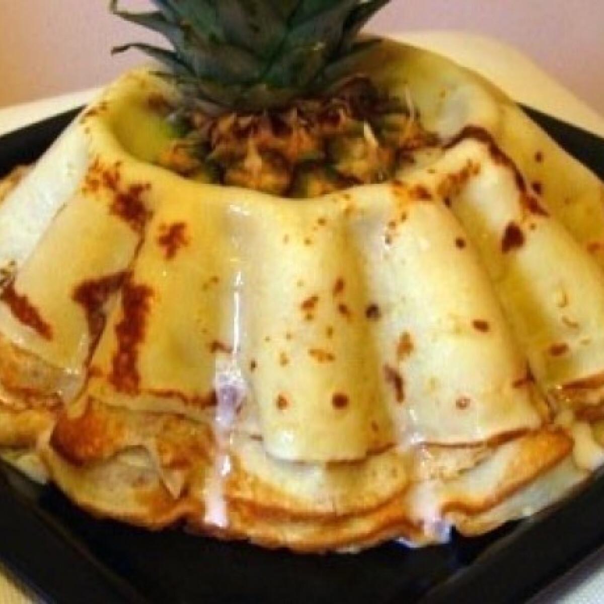 Ezen a képen: Piña Colada palacsinta