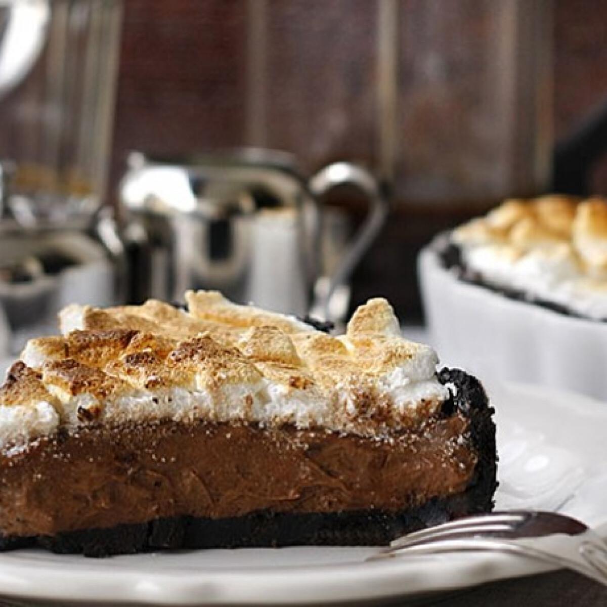 Ezen a képen: Oreos-csokoládés pite