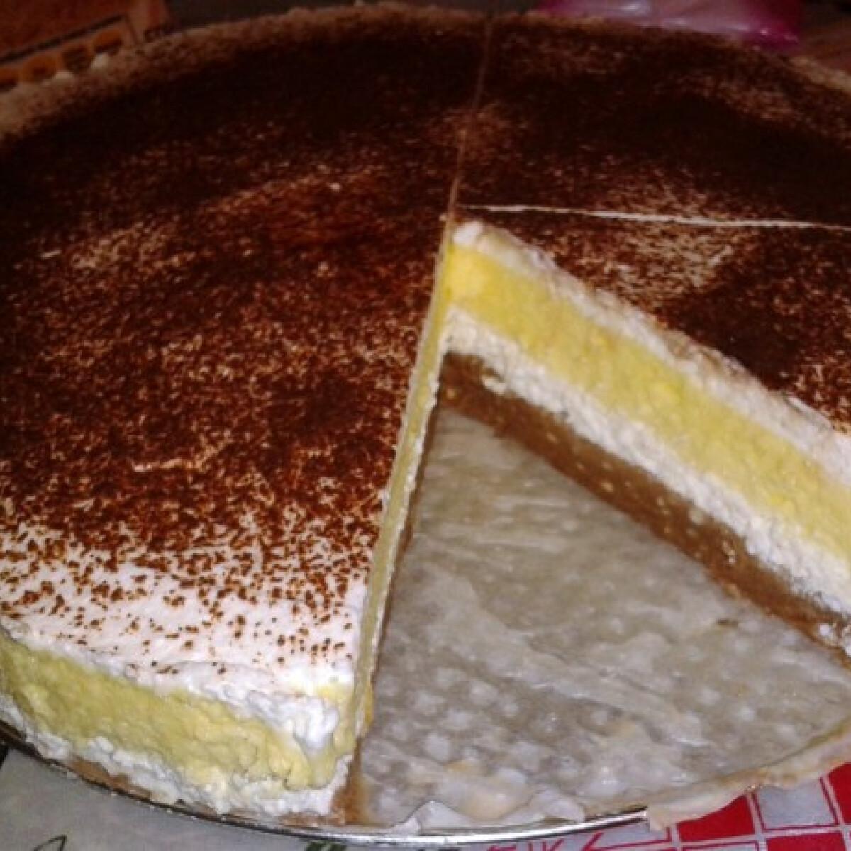 Ezen a képen: Vaníliás-túrós krémes sütés nélkül